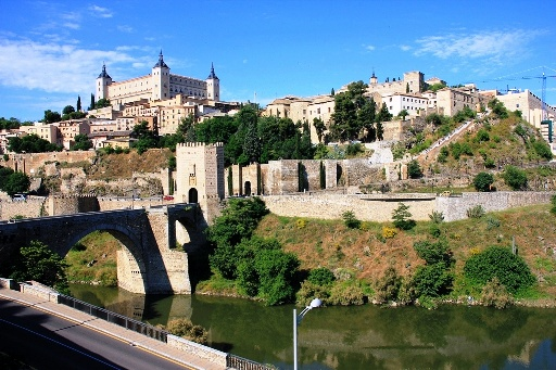 Picture of Puente de Alcántara. This and other monuments are very close to this beautiful guesthouse in the historic center of Toledo, 150 meters from Plaza Zocodover and 2 minutes walk from the cathedral